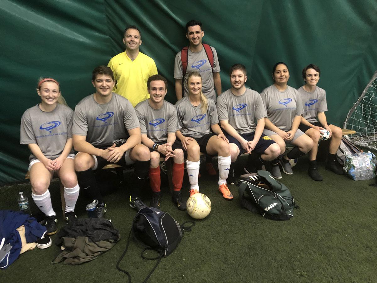 Stress Relief: The Capaldi Reynolds & Pelosi soccer team!